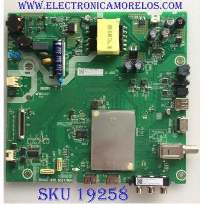 MAIN / FUENTE / (COMBO) /  HISENSE / 244591 / RSAG7.820.8317/ROH / HU43N2170FWR / M184197 / 3TE43M184197 / PANEL  HV430FHB-N10 / MODELO 43H4E