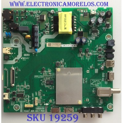 MAIN / FUENTE / (COMBO) / HISENSE / 233809B / RSAG7.820.8317/ROH / 233811B / 3TE43M1841AD / M184198 / PANEL HV430FHB_N10 / MODELO 43H4E