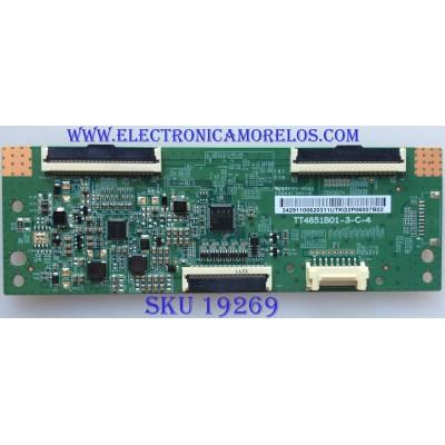 T-CON / SAMSUNG / BN96-39675B  / TT4851B01-3-C-4 / 34291100620311 / PANEL CY-JM049BGHV2H / MODELOS UN49J5000AFXZA / UN49M5300AFXZA CA02