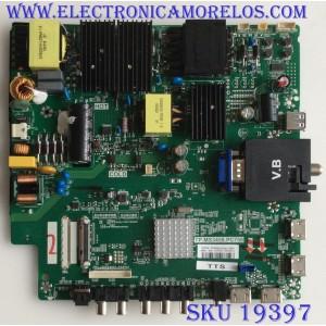 MAIN / FUENTE /(COMBO) / SCEPTRE / C18097052 / TP.MS3458.PC758 / T201807052A / PANEL HV550QUB H11 / MODELO W55 UVTV58FE
