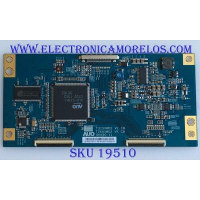 T-CON / 55.31T03.117 / T260XW02 / T315XW02 / 5531T03117 / PANEL  T315XW02 V.E / MODELO  KDL-32S3000