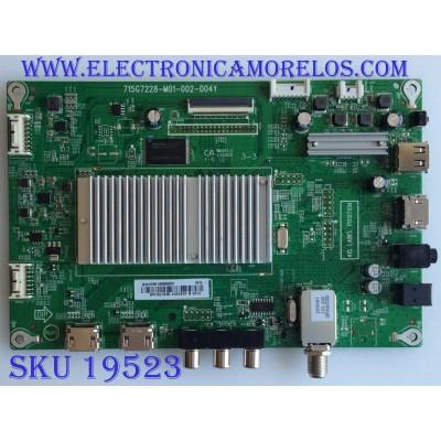 MAIN / INSIGNIA XHCB01K058 / 715G7228-M01-002-004Y / XHCB01K0580 / (X)XHCB01K058000X / PANEL TPT390J1 -HVN05 REV:S000A / MODELO NS-39DR510NA17