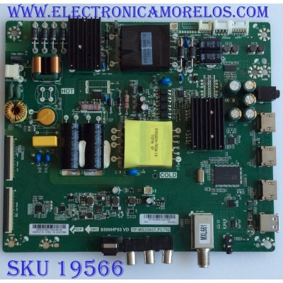 MAIN / FUENTE / (COMBO) / INSIGNIA / B17072994 / TP.MS3393T.PC79 / 6050S1200L / PANEL S500HF53 / MODELO NS-50D510NA17