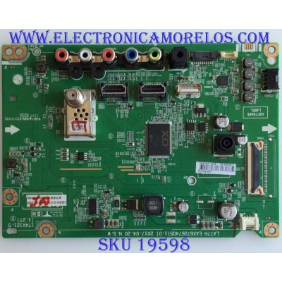 MAIN / LG / EBT64559810 / EAX67267405(1.0) / 7NEBT000-00KK / PANEL NC490DUE ABEX1 / MODELO 49LJ510M-UB BUSGLOR