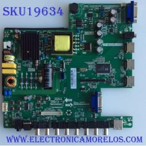 MAIN / FUENTE / (COMBO) / SCEPTRE / B14080243 / TP.MS3393.P712 / T201407039 / PANEL  HV320FHB-N00 / MODELO CN32HB820