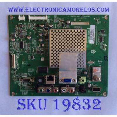MAIN / VIZIO / 756TXDCB02K025 / 715G5835-M01-000-004K / (T)TXDCB02K025001Q / PANEL TPM236H3 / MODELO E241I-A1 LTTUNUHP