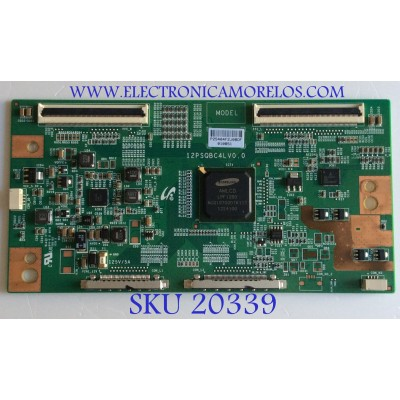 T-CON TOSHIBA / LJ94-25404F / 12PSQBC4LV0.0 / P25404F / PANEL LTA400HV04 / MODELO 40L5200U1