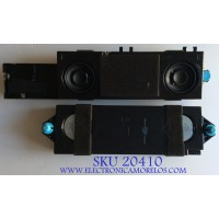KIT DE BOCINAS PARA TV SHARP / VIT70210 / VIT70210-18W8 /18I22S1/ PANEL HD650S1U71\S0\GM\ROH / MODELOS LC-65Q6020U / LC-65Q7370U / LC-65Q7330U / LC-65Q7300 U