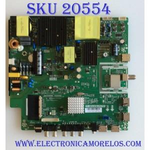 MAIN FUENTE (COMBO) RCA / AE0011129 / TP.MS3458.PC757 / A17083315 / PANEL HV550QUB-N5A / LSC550FN21 / MODELO RTU5540-B