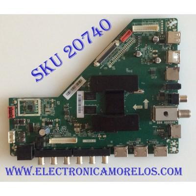 MAIN VIOS / Z18070386 / T.T960X81 / HV430FHB-N10 / T201807129A / L43S800 / PANEL CN49CN7280 / MODELO TV4919K