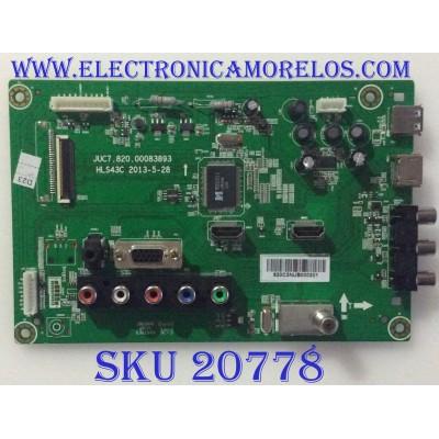"MAIN RCA / 920C3NUB / JUC7.820.00083893 / HLS43C / PANEL S43SD-YD02 / MODELO 43"""