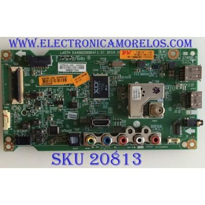 MAIN LG / EBT63481915 / EAX66226904(1.0) / 62930318 / PANEL LC490DUE(MG)(A6) / MODELO 49LF5500-UA.AUSYLJR
