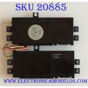 KIT DE BOCINAS PARA TV SHARP / 304-00105-00 / FPG: 00A-BNG50C01 / C15023 / 03351006AF53 / MODELO LC-55LE653U