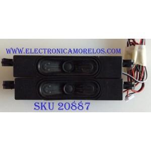 KIT DE BOCINAS PARA TV RCA / YX30166-1AX / MODELO RTU7575