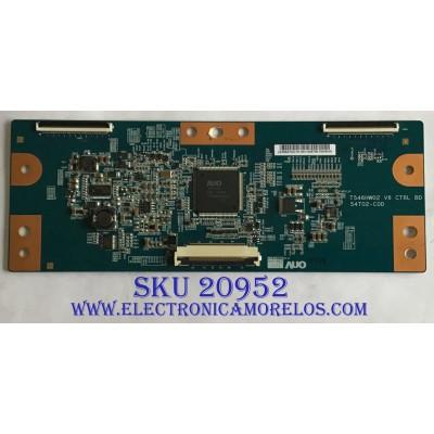 T-CON SAMSUNG / 55.54T02.C15 / T546HW02 / 54T02-C0D / PANEL T546HW02 V.7 / MODELOS UN55D6003SFXZA AN02 / UN55D6005SFXZA
