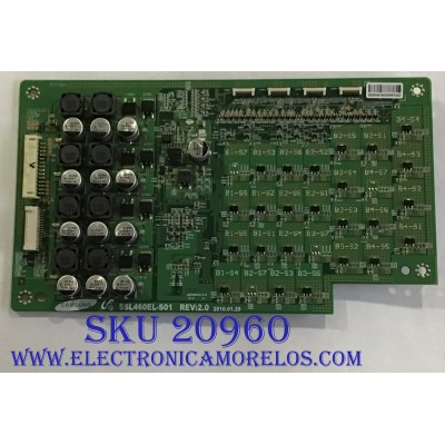 LED DRIVER SONY / LJ97-02930A / SSL460EL-S01 / PANEL LTY460HQ03 / MODELO KDL-46HX800