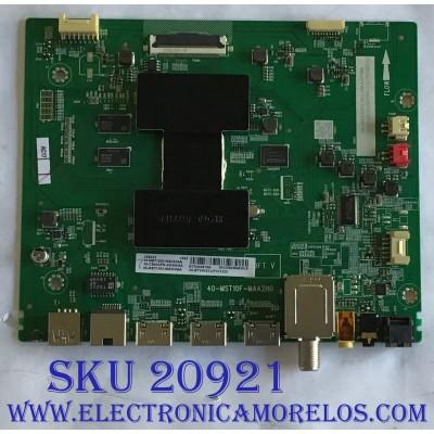 MAIN TCL / 08-CS43CFN-OC400AA / 40-MST10F-MAA2HG / 08-MST1003-MA200AA / 08-MST1003-MA300AA / V8-ST10K01-LF1V1230 / PANEL LVU430NDEL C9DW01 V2 08-43F6000-LPN003B / MODELO 43S423LDAA