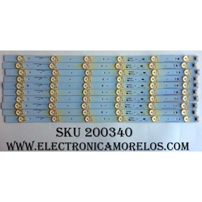 KIT DE LED PARA TV / ELEMENT HP3M03A4U21140319 / CRH-M5035351012T410-REV1.0C / MODELO ELEFW503 / PANEL V500HJ1-PE8 REV.C1