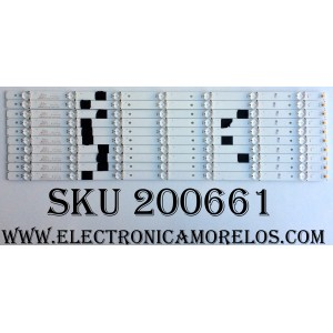KIT DE LED PARA TV (10 PIEZAS) / PC64438 / 1173547 / SVH550AQ0_REV00_RJW1_7LEDX10_161108 / S0328Z