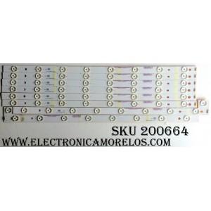 KIT DE LED PARA TV (8 PIEZAS) / VIZIO 56.38005.022 / 05638005022 / WT-EL-55UHD-A-V3 / WT-EL-55UHD-B-V3 / WT-EL-55UHD-C-V3 / F085N4R(P45)H / MODELO P552UI-B2