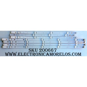 KIT DE LED PARA TV (7 PIEZAS) / 12F1B / 150429 / LG Innotek Direct 49inch UHD A type Rev.0.0_150429 / LG Innotek Direct 49inch UHD B type Rev.0.0_150429 / AG-D1 94V-0 1601