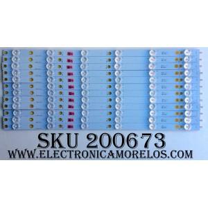 KIT DE LED PARA TV (12 PIEZAS) / VIZIO LB50051 / LB50051 V0_00 / 77900 / 210BZ06D0 / 43030L03L / MODELO E50-D1 LTMWUGAS