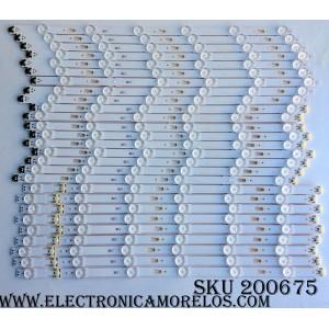 KIT DE LED PARA TV (27 PIEZAS) / SAMSUNG BN96-34763A / BN96-34764A / BN96-34765A / LM41-00121K / LM41-00121J / LM41-00121L / 150310 / PANEL CY-GJ075HGLV1H / CY-GM075FGLV2H / MODELOS UN75JU650 / UN75MU6070FXZA FA02 / MAS MODELOS COMPATIBLES EN DESCRIPCION