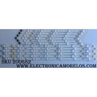 KIT DE LED PARA TV / SAMSUNG BN96-40632A/BN96-40633A / 40632A / 40633A / S_KU6.3K_49_FL30_L7_REV1.0_160402 / S_KU6.3K_49_FL30_R5_REV1.0_160402 / LM41-00334A / LM41-00335A / MODELO UN49KU6500FXZA FA01 / PANEL CY-WK049HGLV1V