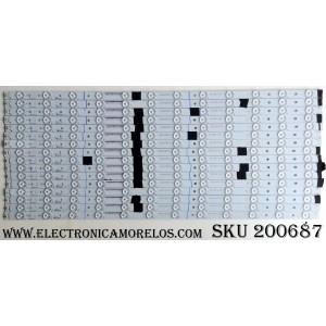 KIT DE LED PARA TV (16 PIEZAS) / ECL-B01-3-S5 / 0981010B8712 (A) / AB32-A7-837-13 (A) / 0981010B8713 (B) / AB32-A7-937-12 (B)