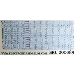 KIT DE LED PARA TV (16 PIEZAS) / VIZIO ECL-B01-3-S4 / 01R96-A / 01R97-A / AB31-A7-337-12 (A) / 0981010B8712 (A)  / AB31-A7-337-13 (B) / 0981010B8713 (B) / MODELO M65-E0 / M65-E0-B-V3