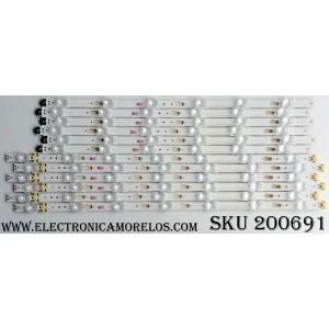 KIT DE LED PARA TV (12 PIEZAS) / SAMSUNG BN96-39657A / BN96-39658A / LM41-00253A / LM41-00254A / PANEL´S CY-GK050HGNV3V / CY-GK050HGNV2H / CY-GK050HBNV3H / MODELOS UN50KU6300FXZA DA01 / UN50KU6300FXZA DB02 / UN50KU6300FXZA DD06 / UN50KU6300FXZA DG10 /