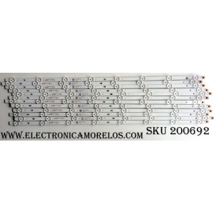 KIT DE LED PARA TV (12 PIEZAS) / PROSCAN AE0110354 / 07CS / T411 / A4F430 / A4G430 / D170217 / N170217 / JL.D55081235-031DS-M / MODELO PLDED5515-D-UHD