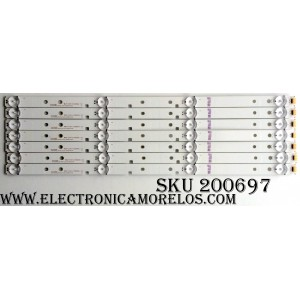 KIT DE LED PARA TV (7 PIEZAS)  / RCA 1172946 / 02IE1 / E306084 / SVH420AB2 / SVH420AB3_Rev02_4LED_160601(PIN) / MODELO LED43M5000U
