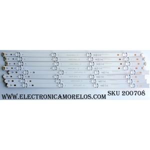 KIT DE LED PARA TV (8 PIEZAS) / LG EAV63192 / 49UH61_UHD / 717 B0E 49041 / EAV63192717 / SSC_49inch_UHD_A_REV03_160331 / SSC_49inch_UHD_B_REV03_160331 / MODELO 49UH6090-UJ