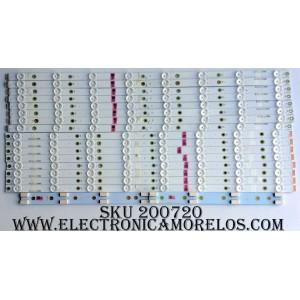 KIT DE LED PARA TV (16 PIEZAS) / VIZIO / 210BZ08DL / 210BZ08DR / LB55055 V0_02/ PANEL T500QVN03.0 / MODELOS M50-D1 LTMWUXAS / M50-D1 LTMWUXDS
