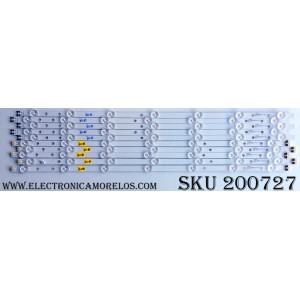 KIT DE LED´S PARA TV (10 PIEZAS) / SAMSUNG BN96-28772A/28773A / 2013SVS55 / LM41-00001P / D3GE-550SMA-R1 / D3GE-550SMB-R0 / SUSTITUTAS BN96-39055A / BN96-30056A / PANEL ´S CY-DF550CSLV1H / CY-DF550CSLV4H / CY-DJ055CSLVZH / CY-DJ055BGLV1H / LH55EDCPLBC/CI