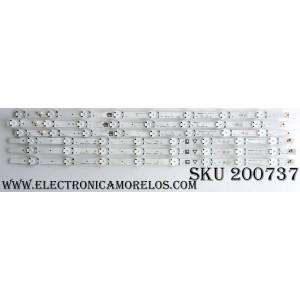 KIT DE LED´S PARA TV (6 PIEZAS) / PHILIPS UDULED0GS061 / UDULED0GS062 / E88441 / 50W8S1P / LG Innotek UHD L TYPE 50 INCH REV0.1 160308 / LG Innotek UHD R TYPE 50 INCH REV0.1 160308 / PANEL U6AU7XH / MODELO 50PFL5601/F7 DS1 / 50PFL5601/F7 B