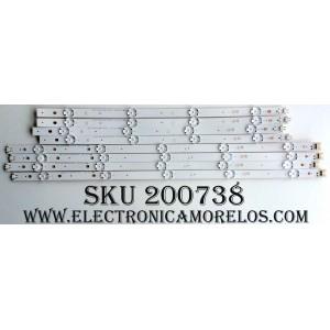 KIT DE LED´S PARA TV (8 PIEZAS) / 49INCHUHD / LG Innotek Direct 49inch UHD B type Rev.0.0_150429 / AG-D1 94V-0 1612 / PANEL NC490DGE-SADP3 / MODELOS 49UH6090-UJ AUSWLOR / 49UH6090-UJ BUSWLOR / 49UH6090-UJ BUSYLOR