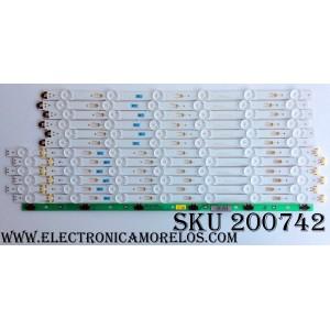 KIT DE LED`S PARA TV (12 PIEZAS) / SAMSUNG BN96-34795A / BN96-34796A / BN41-02377A / S_5U70_50_FL_L7_REV1.4_150514_LM41-00120V / S_5U70_50_FL_R6_REV1.4_150514_LM41-00120W / MODELOS UN50JU6500F / UN50JU6500FXZA IH02