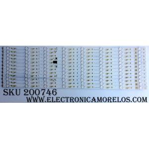 KIT DE LED PARA TV / TCL YHA-4C-LB650T-YH3 / 250716-YB7XFS-02/ TCL_ODM_650D30_3030C_12X8_V2 / 006-P1K3428B / MODELO 65US5800 / PANEL LVU650SSDX E2 V5