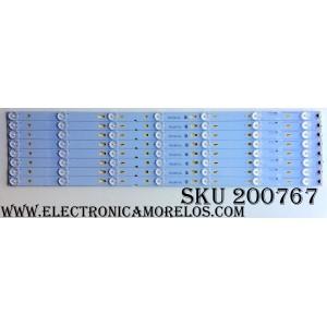 KIT DE LED PARA TV / TCL YHB-4C-LB3207-YH2 / 006-P1K3465A / T0T_55D2700_UD_8X7_3030C_V1 / 55D2700 / 55HR330M07A2 V0 / MODELO 55US5800 55US5800TAAA / 55US5800 55US5800TDAA / 55US5800TAAA / PANEL LVU550CS0T E1 V1 T8-55D2730BU-LPN1