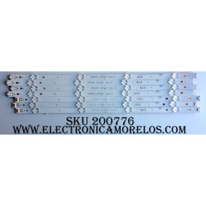 KIT DE LED PARA TV / LG 49UH61UHD (7 PZAS.) / 49UH61_UHD_B / 49UH61_UHD_A / 49UH61_UHD_A TYPE L / 49UH61_UHD_B TYPE L / MODELO 49UH6090-UJ BUSFLOR / 49UH6030-UD BUSFLOR / PANEL NC490DGE