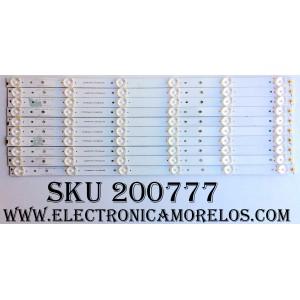 KIT DE LED PARA TV / SCEPTRE 3BL-T4734102-12 (10PZAS.) / 2301050B700080 / JS-NY313GCXD-0048 / MODELO X50 A3NV93CH / PANEL T500HVN07.5