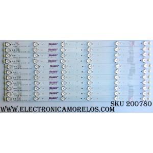KIT DE LED`S PARA TV (11 PIEZAS) / SHARP HD500DU-B52 / RSAG7.820.6723/ROH VER.B / ZDB-192118-B1 / 192118-6723-Y-B1-F160N9 / PANEL`S HD500DU-B52(100)\S0\GM\ROH / HD500DU-B52(100) / MODELOS LC-50N6000U / 50H6D