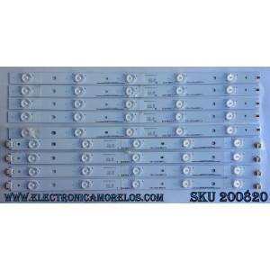 KIT DE LED'S PARA TV ((INCOMPLETO SOLO 9 PIEZAS)) NUMERO DE PARTE IC-D-HWX43D496 / IC-D-HWX43D496R / IC-D-HWX43D496L / 056.38005.0531 / PANEL T430HVN01.0 / MODELO D43-D2