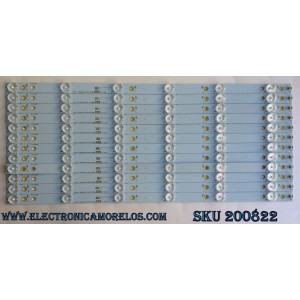 KIT DE LED PARA TV / VIZIO 500TT43 V4 / 0096SXSL01AEK2626402532 / E465853 7410A / MODELO E50-C1 LTCWSKER / PANEL TPT500J1-HVN08.A REV:S800A