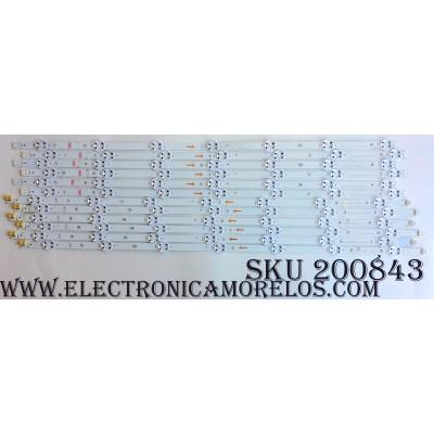 KIT DE LED PARA TV / VIZIO SVG650A28 REV05 / SE65DL2016/SE65DL1016 / SVG650A28_REV05_7WICOP_L_150923(E65(UHD) / SVG650A28_REV05_7WICOP_R_150923(E65(UHD) / SE65DL1016 / SE65DL2016 / MODELO E65U-D3 LFTIUHBS / PANEL V650DJ4-QS5