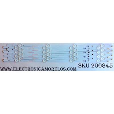 KIT DE LED PARA TV / INSIGNIA SJH5PAH234 (8 PZAS.) / SVA500A53_REV04_1LED_160121 / MODELO NS-50D510NA17 / PANEL T500HVN07.5