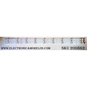 KIT DE LED PARA TV / PROSCAN PK385D09-ZC21FG-02 / 303PK385031 / 151121A6 / PK385M01 / MODELO PLDED3996A-E / PANEL LC390TA201 / XYD390BA01
