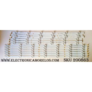 KIT DE LED PARA TV / VIZIO 056.38027.027 (12 PZAS.) / 05638027027 / I-5500WS80131-L-V4 / TEST001 E330254 / MODELO E55-E2 LWZQVIBS / PANEL LSC550FN11-801